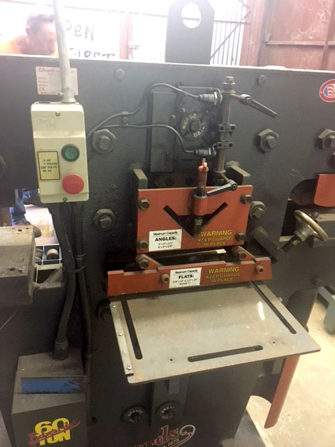 used edwards 60-ton ironworker