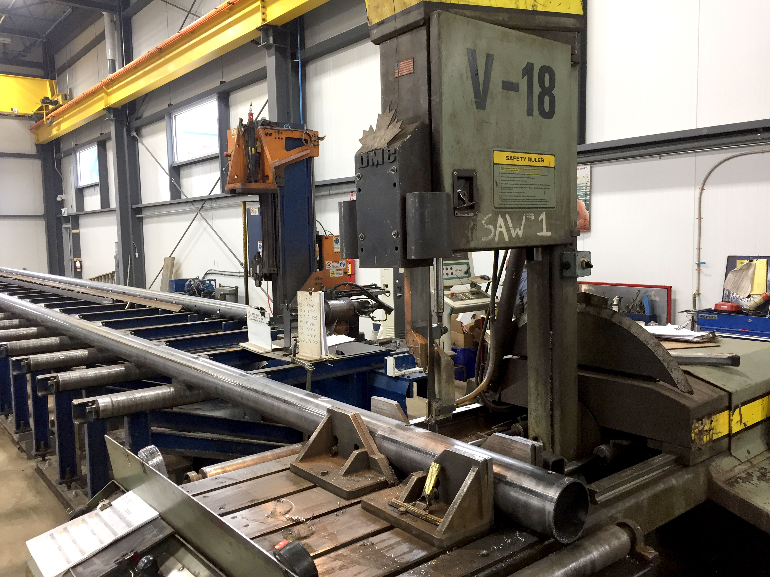 used HydMech V-18 band saw